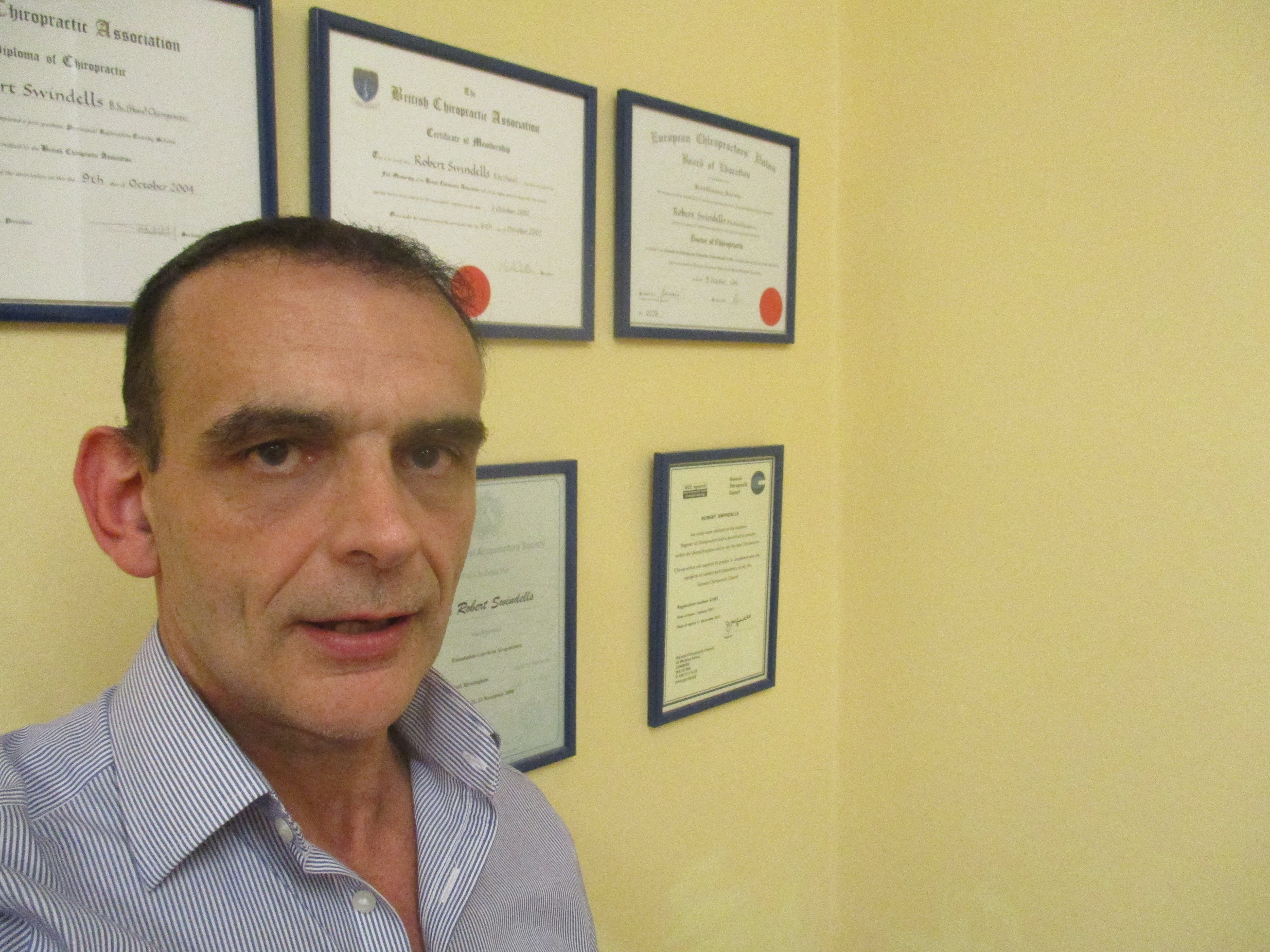 Chiropractor Robert Swindells